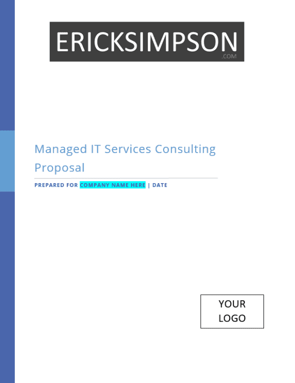 Erick Simpsons Managed IT Services Sales Proposal Template