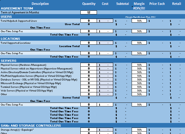 Erick Simpson's IT and MSP Sales Bundling and Pricing Calculator