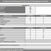 On-Boarding Engineer Capacity Planning and Hiring Calculator