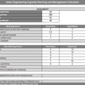 Sales Engineer Capacity Planning and Hiring Calculator