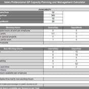 Sales Professional GP Capacity Planning and Hiring Calculator