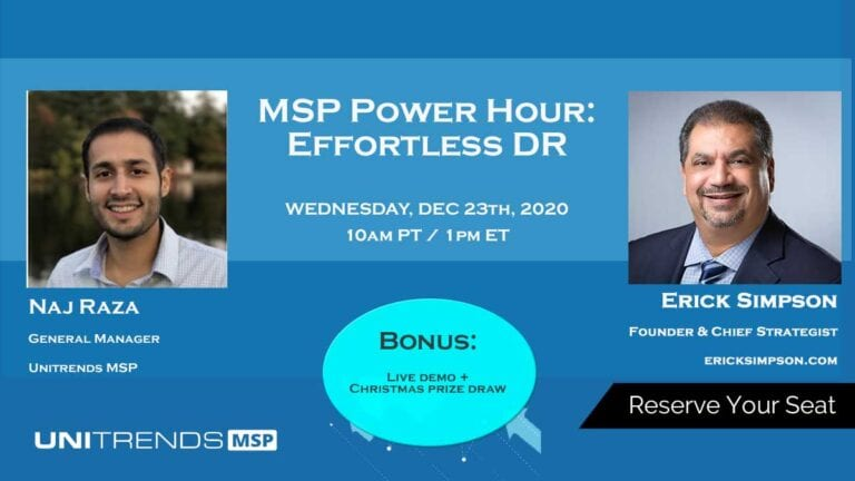 MSP Power Hour: Effortless DR